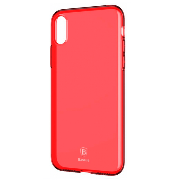 Чохол iPhone X Baseus Ultra Slim Case with Anti-Dust Jack (Red) ARAPIPHX-A09