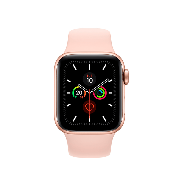 Б/У Apple Watch Series 5 GPS 40mm Gold Aluminium Case with Pink Sand Sport Band (MWV72)