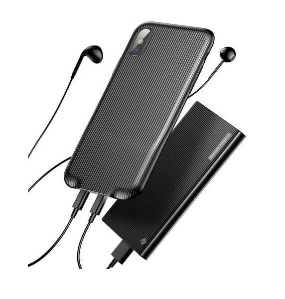 Baseus Audio Case for iPhone X (Audio+Charge/Double lightning) Black (001657)