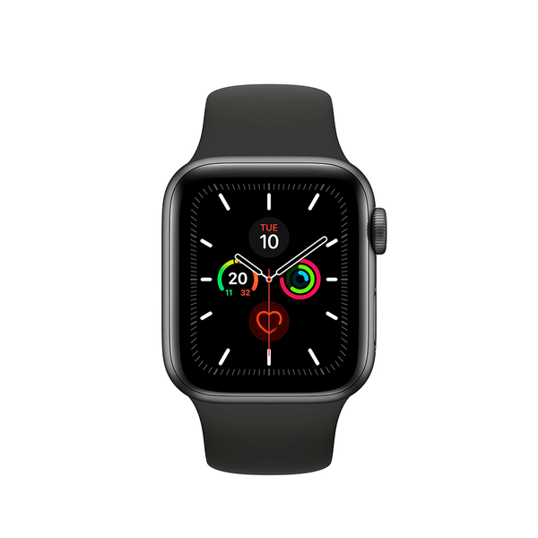 Б/У  Apple Watch Series 5 GPS 40mm Space Gray Aluminium Case with Black Sport Band (MWV82)