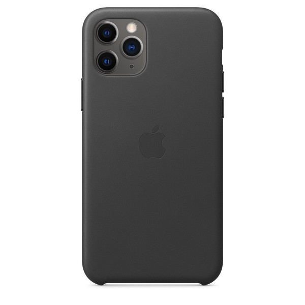 Чохол для iPhone 11 Pro Apple Leather Case (Black) MWYE2 UA
