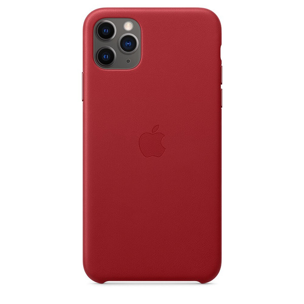Чохол для iPhone 11 Pro Max Apple Leather Case (PRODUCT RED) MX0F2 UA