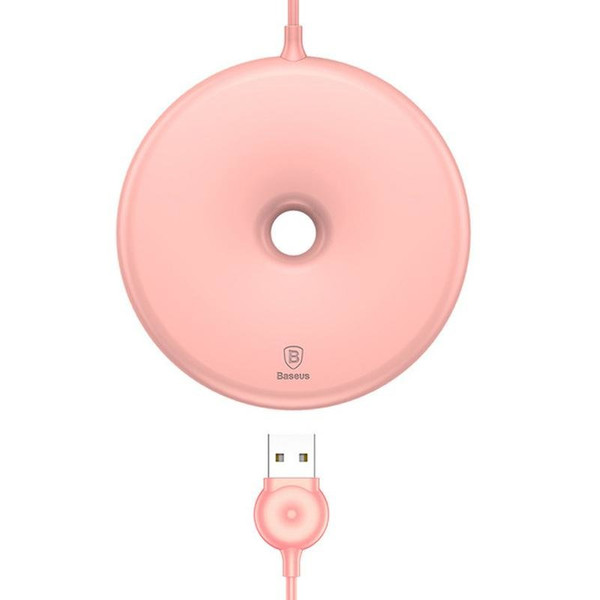 Бездротовий ЗП Baseus Donut Wireless Charger ( Black ) Pink (001508)