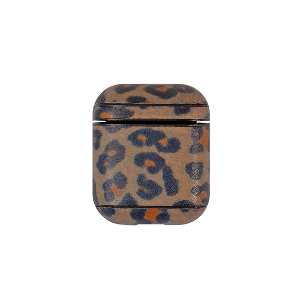 Чехол для AirPods iCarer Leopard Pattern Leather Series ( Brown )