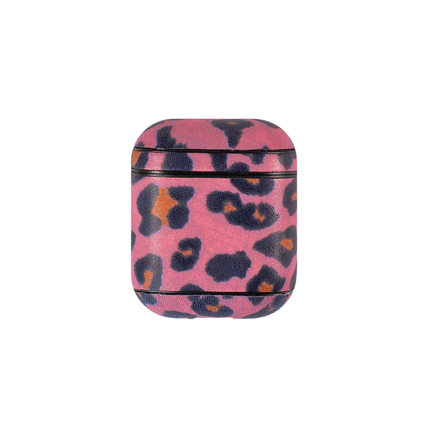 Чехол для AirPods iCarer Leopard Pattern Leather Series ( Pink )