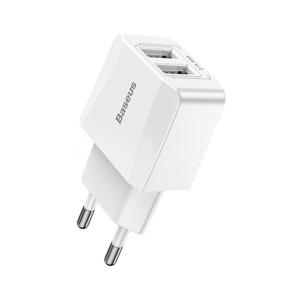 МЗП Baseus Mini Dual-U Charger (EU) 2.1A White (003296)