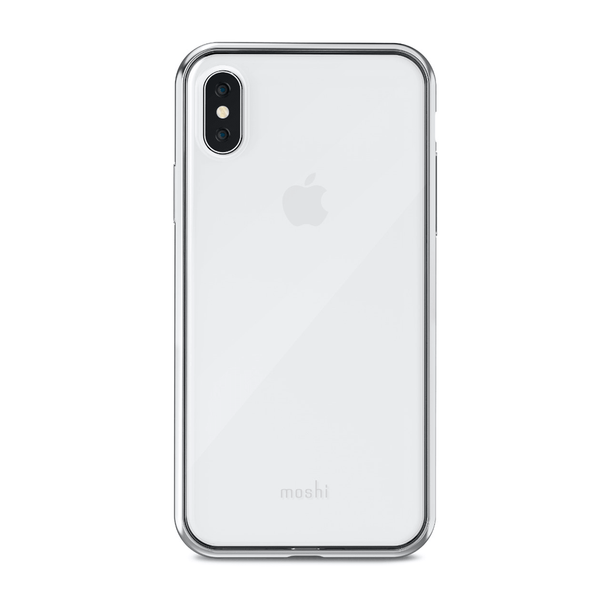 Чохол Moshi Vitros Slim Clear Case Jet Silver for iPhone XS Max (99MO103203)