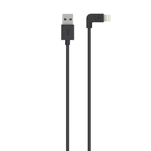 Кабель BELKIN MIXIT Lightning to USB Right angle 1.2m Black (F8J147BT04-BLK) Black (006658)
