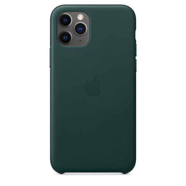 Чохол для iPhone 11 Pro Apple Leather Case (Forest Green) MWYC2 UA