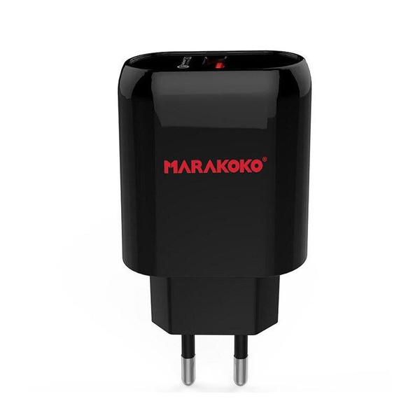МЗП Marakoko MA15 Fast Wall Charger Single USB Port QC3.0 Black (002888)