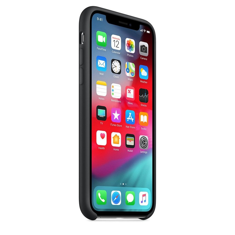 Чохол для iPhone Xs Apple Silicone Case (Black) MRW72