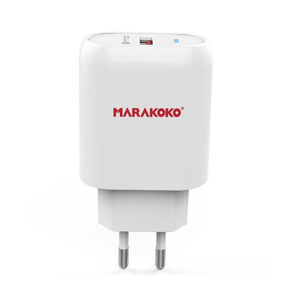 МЗП Marakoko MA15 Fast Wall Charger Single USB Port QC3.0 White (002884)