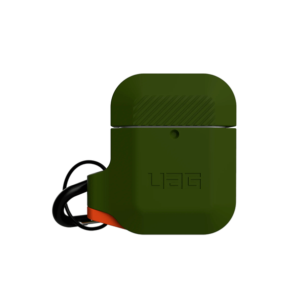 Чохол для AirPods UAG Silicone ( Olive Drab/Orange ) 10185E117297