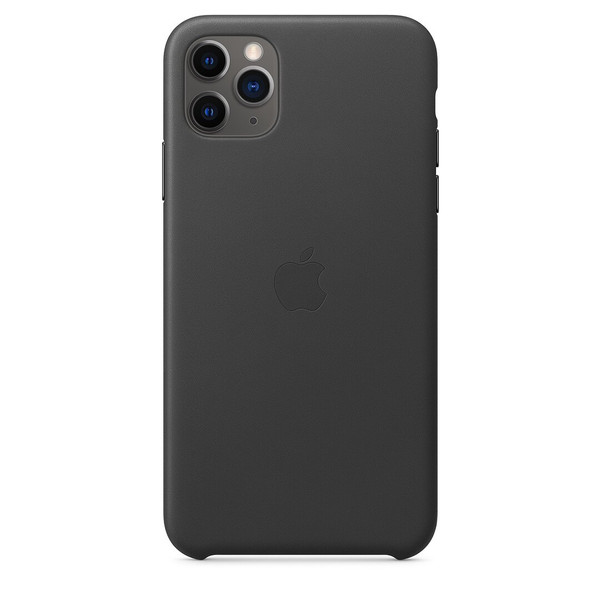 Чохол для iPhone 11 Pro Max Apple Leather Case (Black) MX0E2 UA