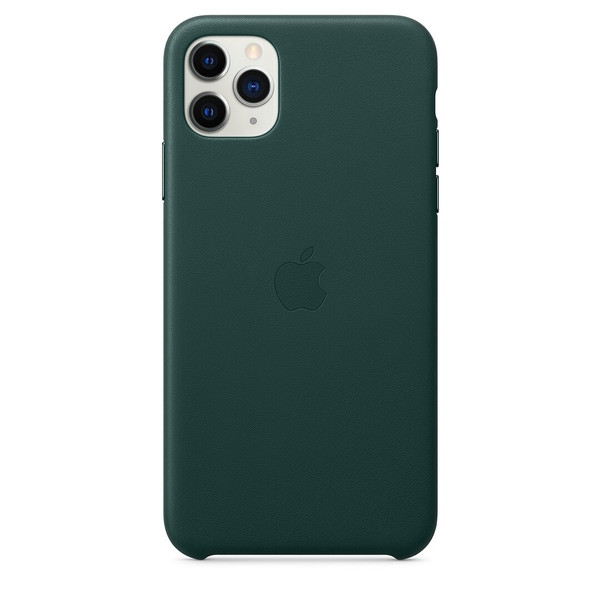 Чохол для iPhone 11 Pro Max Apple Leather Case (Forest Green) MX0C2 UA