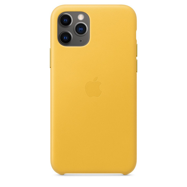 Чохол для iPhone 11 Pro Apple Leather Case (Meyer Lemon)  MWYA2 UA