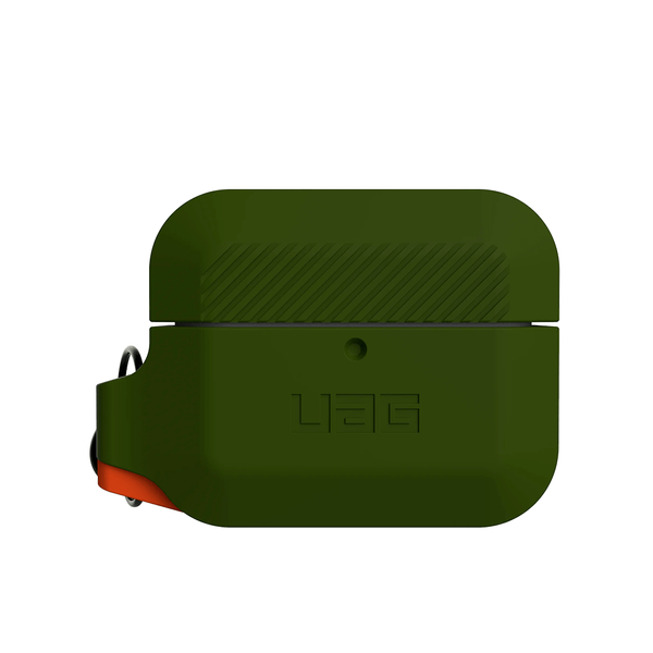 Чехол для AirPods Pro UAG Silicone ( Olive Drab/Orange ) 10225K117297