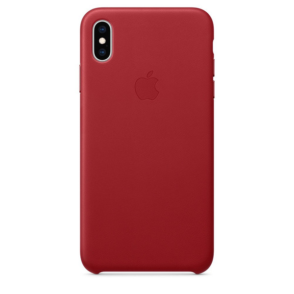 Чохол для iPhone Xs Max Apple Leather Case (PRODUCT RED) MRWQ2