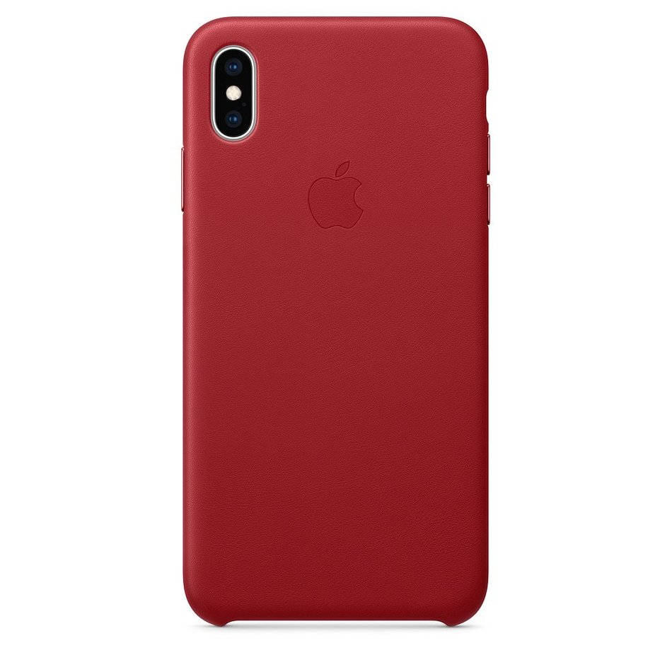 b77b4c6a565e Купить Чехол для iPhone Xs Max Apple Leather Case (PRODUCT RED ...
