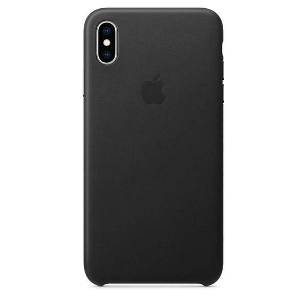 Чохол для iPhone Xs Max Apple Leather Case (Black) MRWT2