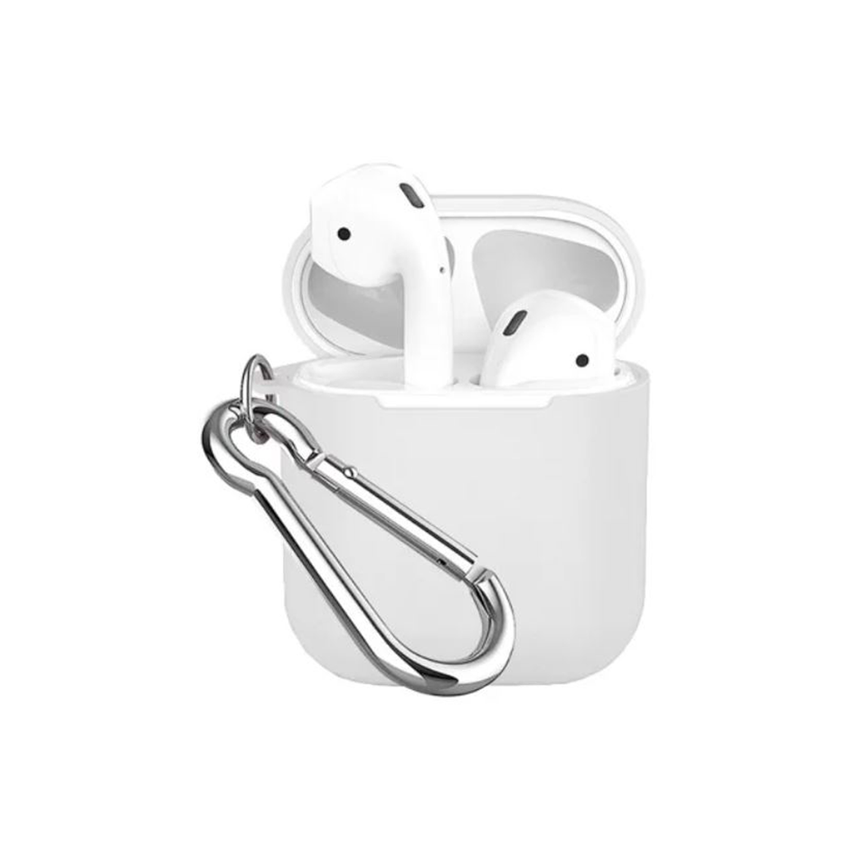 Чохол для AirPods COTEetCI TPU Pods Case white Hook ( Black ) CS8113-BK