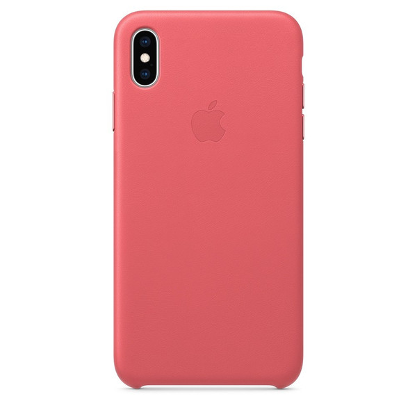 Чохол для iPhone Xs Max Apple Leather Case (Peony Pink) MTEX2