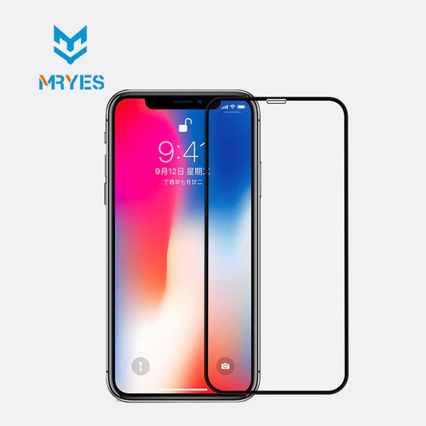 Захисне скло для iPhone X / Xs Mr. Yes 3D Curved Entire View Tempered Glass 0.26 mm ( Black )