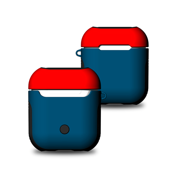 Чехол для AirPods Soft TPU + Hard PC Case ( Blue/Red )