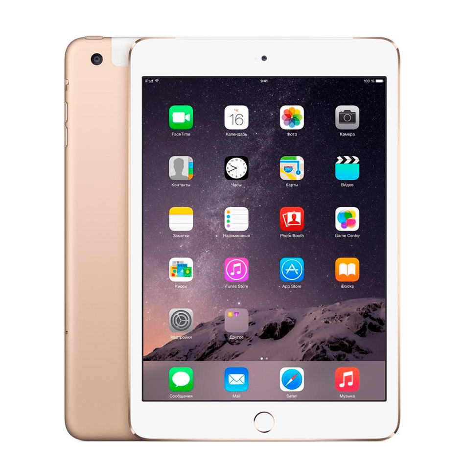 Б/У Apple iPad Mini 3 WiFi + Cellular 64Gb Gold
