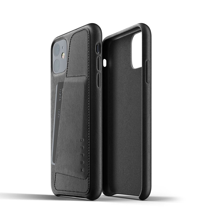 Чохол шкіряний MUJJO для iPhone 11 Full Leather Wallet Black (006512)