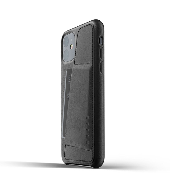 Чехол кожаный MUJJO для iPhone 11 Full Leather Wallet Black (006512)